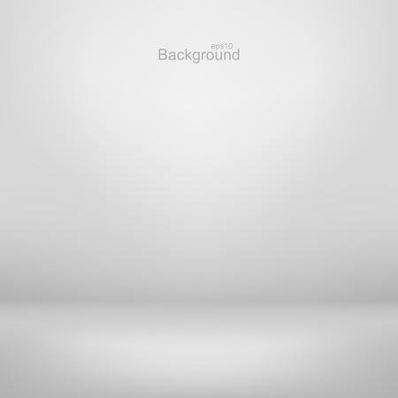 Empty white studio background. Gray gradient design. Illustration