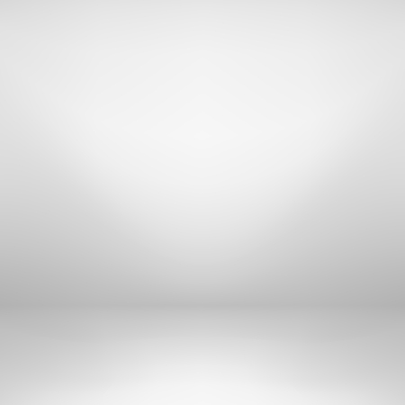 Empty white studio background. Gray gradient design.