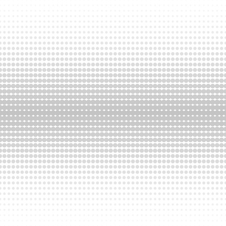Vector halftone dotted background - seamless. Grey and white texture.
