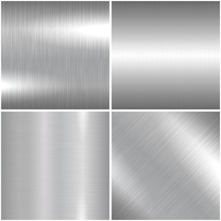 Metal brushed texture. Vector bright metallic background for your design and ideas.