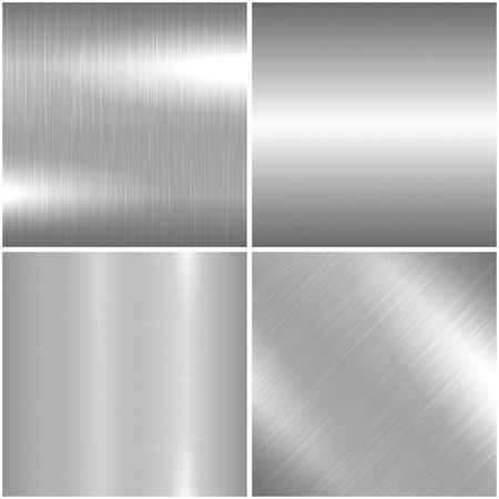 cromo: Metal cepillado textura. Vector de fondo metálico brillante para su diseño e ideas.