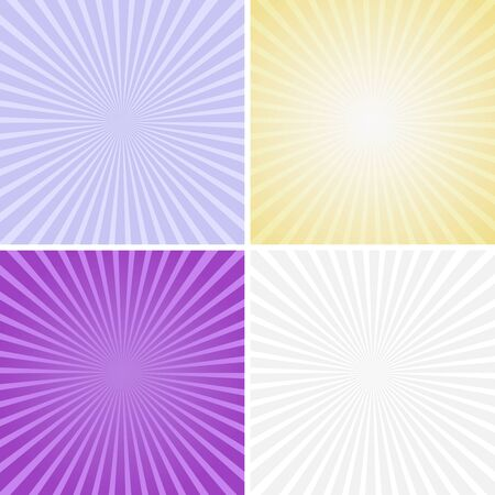 color illustration: Set of color radiant backgrounds, vector - eps10