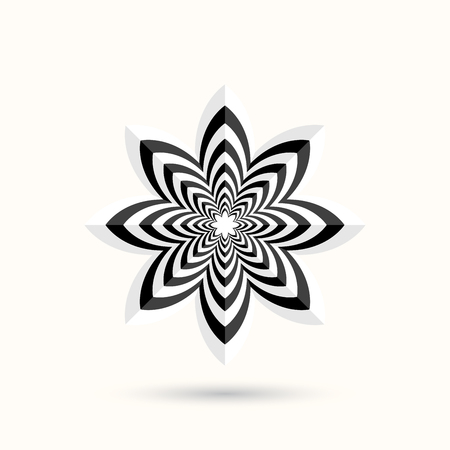 3d flower: Abstract shape - 3d flower. Vector design element. Illustration