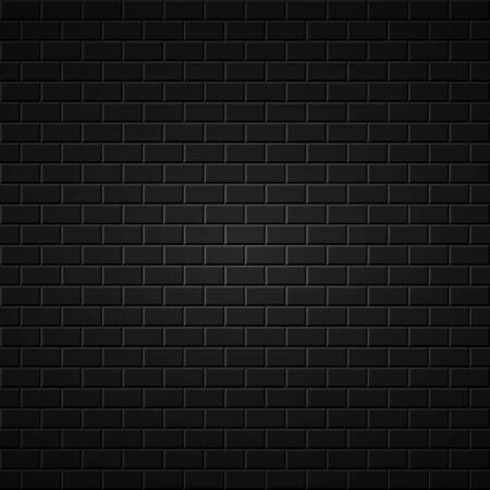 black wall: Black abstract background. Brick wall dark texture.