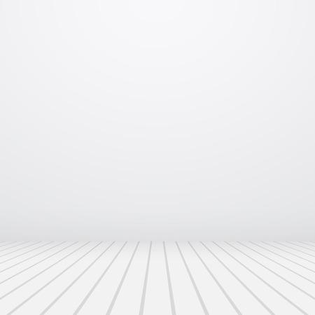 Witte vector copyspace. Grijze muur en vloer.