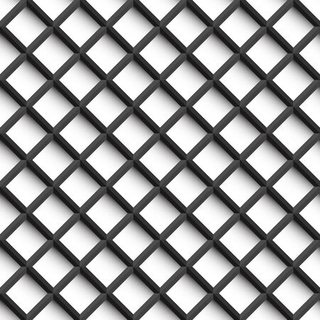 line graph: Grid pattern - seamless background. 3d texture - black and white.