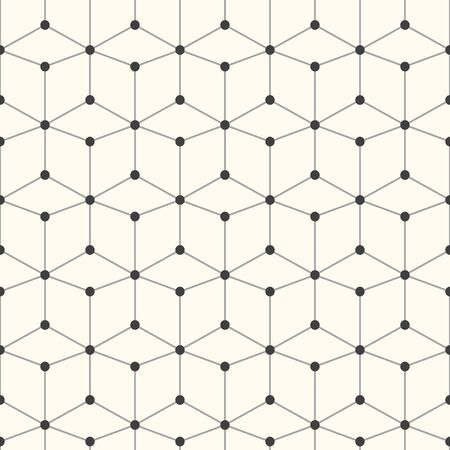 grid: Geometric vector pattern - seamless. Technology grid background. Illustration