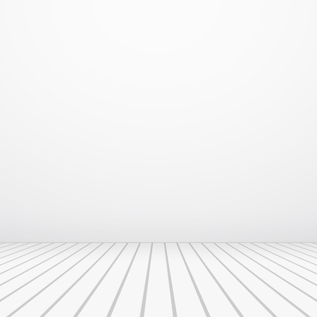 White copyspace. Vector realistic floor and wall.