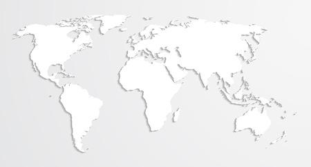 similar: Vector world map. Similar to paper origami.