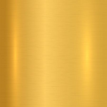 Gold metallic background. Polished texture. Vector illustration Illustration