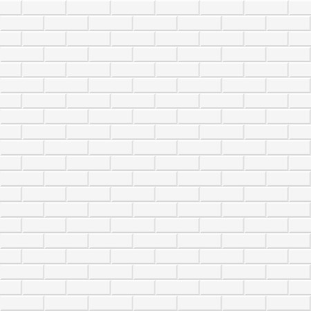 Bakstenen muur textuur. Witte naadloze vector achtergrond.