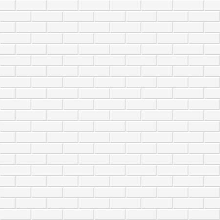 Textura de la pared de ladrillo. vector de fondo sin fisuras en blanco. Foto de archivo - 55319575