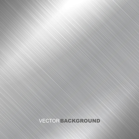 Metal brushed vector texture. Bright metallic surface. Çizim