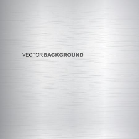Metal brushed vector texture. Bright metallic surface. 向量圖像