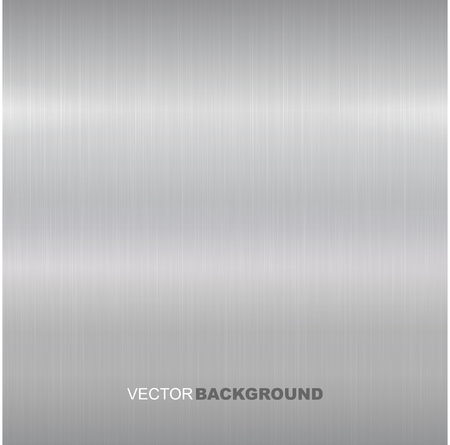 Metal brushed vector texture. Bright metallic surface. Ilustrace