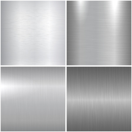 aluminum texture: Metal polished textures. Collection of bright metal surfaces.