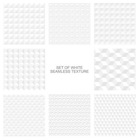 background textures: White geometric textures - a seamless vector background
