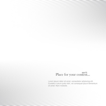 Abstract vector background. White striped copy space.