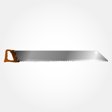 sharpened: Vector Illustration of wood saws. Realistic instrument