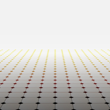 Abstract background with perspective. Vector tile floor.