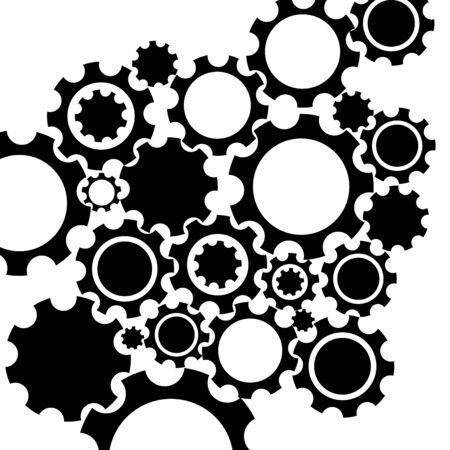 black: Black gears mechanism background.