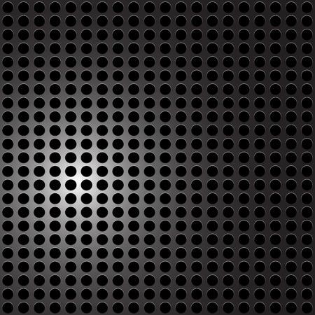 holes: Black Metal - carbon holes background. Vector illustration.