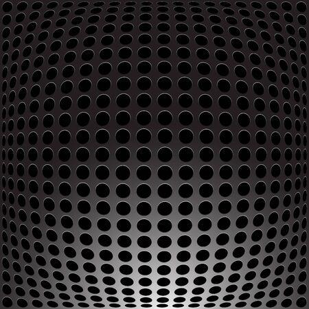 metal frame: Black Metal - carbon holes background. Vector illustration.
