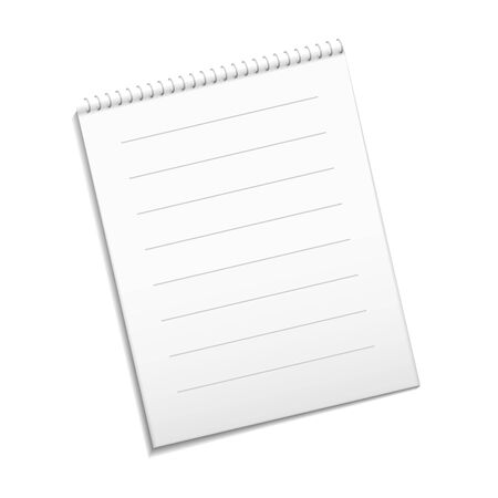 note paper: Paper white note. Vector white note for your design.