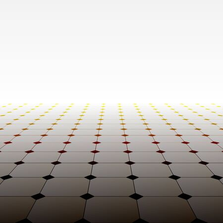 Abstract background - perspective tiled floor. Vector illustration. Vector Illustration