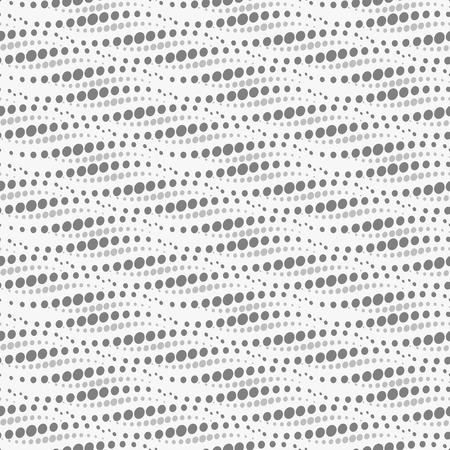 stratum: Wavy repeating dots pattern - seamless. Vector illustration.
