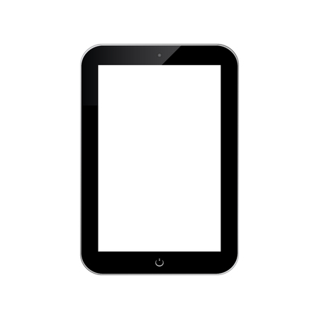 touchpad: Black touchpad design isolated on white background.