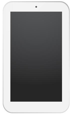 electronic organizer: White smart phone design, isolated on white. Illustration