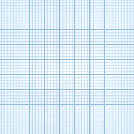 plotting: Graph paper - seamless. Blue print paper - vector illustration.