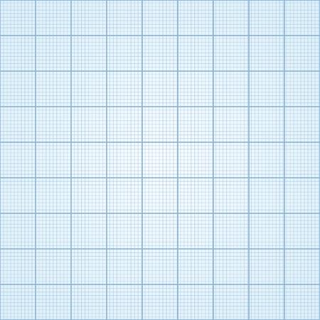 Graph paper - seamless. Blue print paper - vector illustration.
