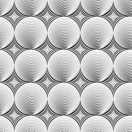 hypnose: Illusion seamless texture. Abstract vector background for your design.