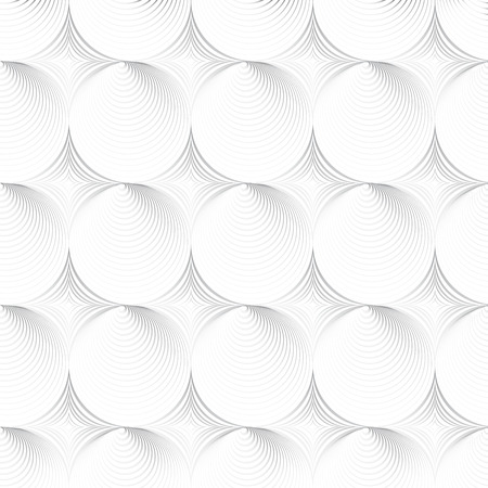 hypnose: White geometric texture - a seamless vector background Illustration