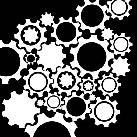 mechanism: Gears mechanism background. Black and white texture.