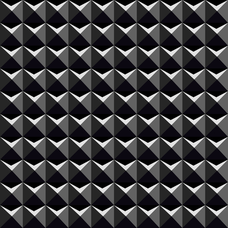 abstract cubes: Black 3d pattern - a seamless vector texture.
