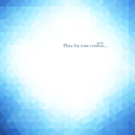 Abstracte helderblauwe achtergrond. Vector illustratie eps10.