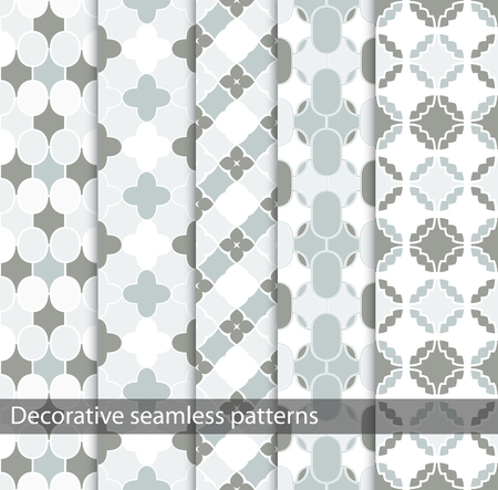 delicate: Delicate ornamental patterns - a seamless vector collection.