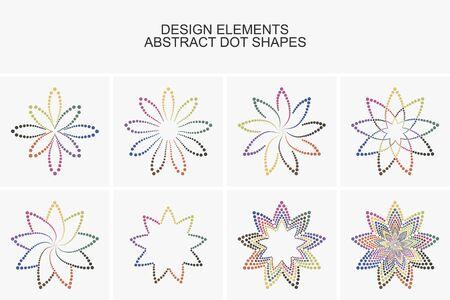 Abstrakte bunte Punkt shapes.Vector Reihe von Design-Elemente und Symbole.