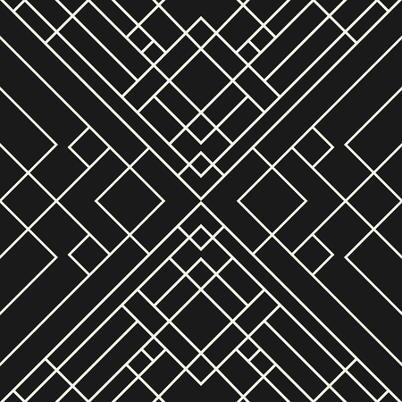 grid black background: Abstract grid black background - seamless geometric pattern.