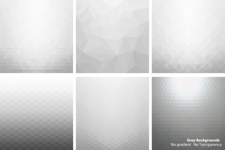 manually: Collection of gray light abstract backgrounds. Every background performed manually and not contains gradients and transparencies.