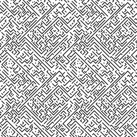 repeatable texture: Geometric seamless pattern. Black and white striped repeatable texture. Similar to retro memphis style, fashion 1980s - 1990s.