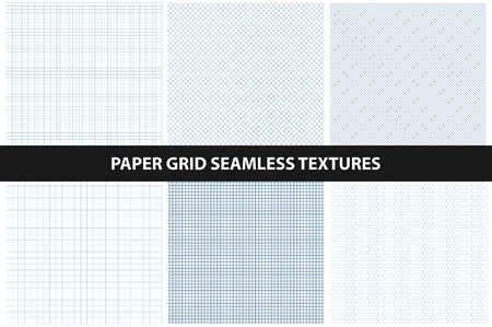 paper textures: Paper textures. Seamless collection. Similar to blue print paper. Illustration