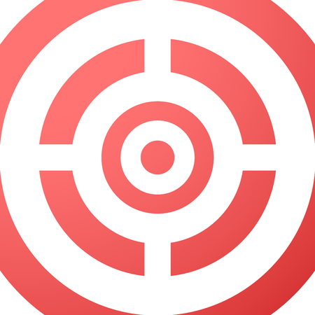 achieved: Target closeup red vector background. Illustration eps10. Illustration