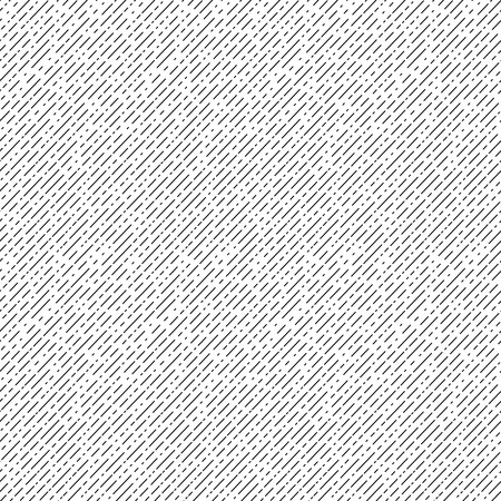 Geometric diagonal seamless pattern. Black and white striped repeatable texture. Similar to retro memphis style, fashion 1980s - 1990s.