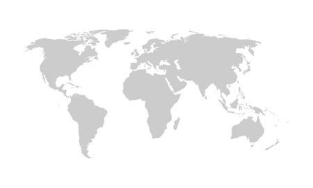 World map, vector. Illustration