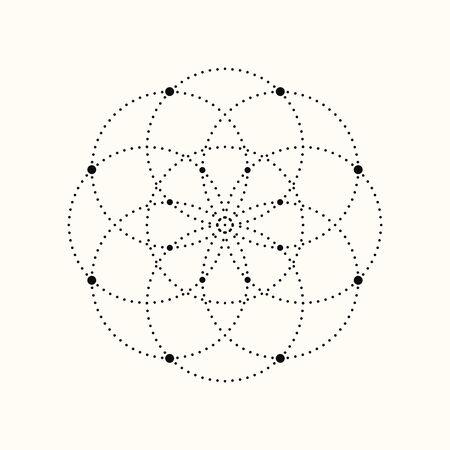Vector geometric shape. Dotted design element eps10. Ilustração Vetorial