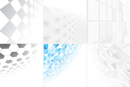 smooth surface: Collection of abstract backgrounds with perspective. Vector illustration eps10.